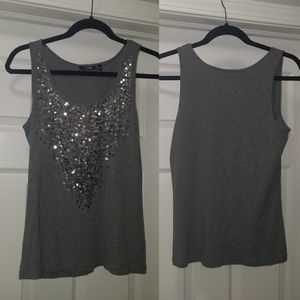 Apt 9 Sequin Tank Top Large